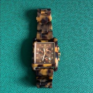 Michael kors square face tortoise watch